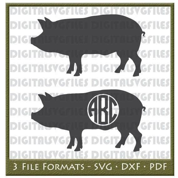 Show Pigs Svg Farm Animal Svg Pig Svg Pig Vector File File