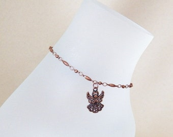 Copper Angel Anklet