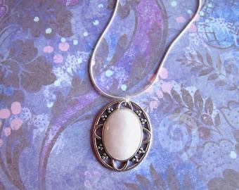 Silver Rose Quartz Necklace, Rose Quartz Jewelry, Rose Quartz Pendant, PInk Gem Necklace, Pink Stone Necklace, GEmstone Necklace Rose Quartz