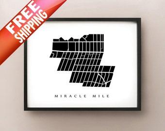 Miracle Mile, Los Angeles Neighborhood Art Print