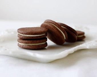 Chocolate Earl Grey Sandwich Cookies, Gourmet Earl Grey Tea Cookies