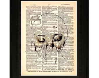 "Beholder"".Dictionary Art Print. Vintage Upcycled Antique Book Page. Fits 8""x10"" frame"