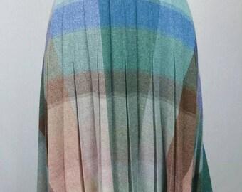 Vintage Plaid Pleated Skirt Size - 12