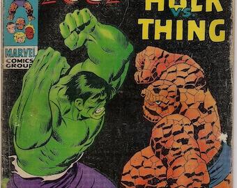 Marvel Comics, FANTASTIC FOUR 112, July, 1971, Stan Lee, John Buscema, Ben Grimm, the Thing  versus Bruce Banner, The Incredible HULK
