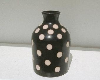 Vintage Large Dot Vase