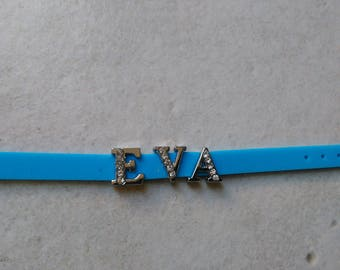 Personalized Bracelet / adjustable name EVA rhinestone letter