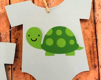 Turtle Baby Shower Decorations, Turtle Baby Shower Banner, It's a Boy Outfit Banner, Turtle Name Banner, Baby Name Banner, Turtle Nursery