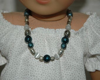Doll, necklace, made in, american, girl, jewelry, 18 inch doll, accessories, blue, beaded, 5
