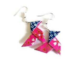 Eco friendly Origami paper earrings