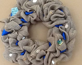 Hand made burlap wreath - Made to order, any theme/occasion