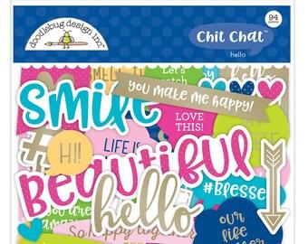 Hello Chit Chat Doodlebug Odds & Ends 94/Pkg (5910)
