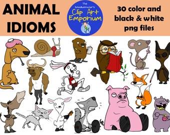 Animal Idioms Clip Art