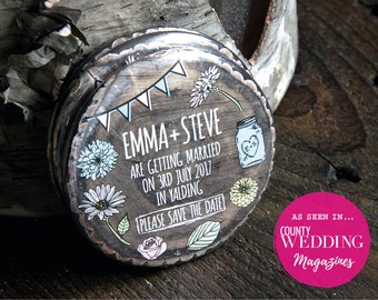 WHIMSICAL WOODLAND design - Save the Date Magnets