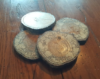 Wooden Coasters set of 4