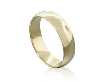 14K or bande classique bague de mariage • bande d'or minimaliste bague cadeau pour lui bande de mariage • bague en or