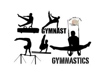 Male Gymnastics svg cut file male gymnast silhouette collection bundle for Silhouette Cricut for t-shirt DIY motivational svg gymnastics svg