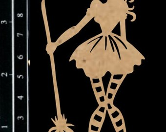 Scrapaholics Chipboard - Cute Witch 1