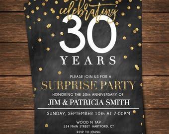Th birthday invitation surprise th birthday invite diy