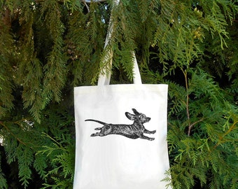 Dachshund Bag Wiener Dog Tote Bag Dog Tote Dog Bag Illustrated Wiener Dog Doxy Gift for Dog Owner cute Dachshund wiener dog cute wiener dog