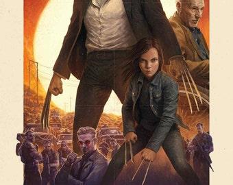 Logan IMAX vintage poster Wolverine 3 X-Men Marvel Comics 300gsm quality