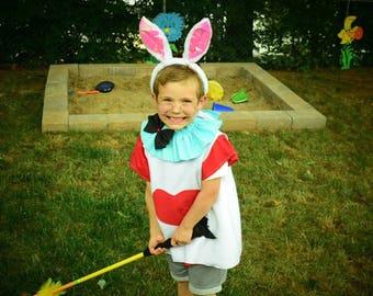 White Rabbit costume, Alice in Wonderland White Rabbit boy costume