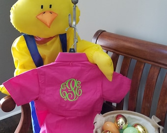 TODDLER  Fishing Shirt/ Monogrammed --Sizes   12 MONTHS,  2/3 and 4/5 -