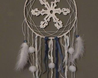 dream catcher blue and white with Pom Pom, Christmas