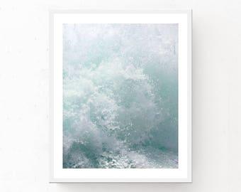 WHITE WATER PHOTO, Ocean Water Print, Ocean Printable Wall Art, White Water Print, Digital Download, Ocean Print, Ocean Photography, Splash