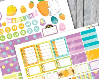 Weekly Easter Planner Sticker, Printable Sticker, Erin Condren Planner Sticker, Planner kits, rabbit planner, cute planner