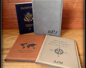 Custom Passport Cover, Leather, Passport Holder,  Personalized Case, Travel Documents Case Holder, Bride, Groom Gift, Anniversary, Christmas