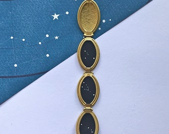 OVAL CONSTELLATION LOCKET. star sign locket / celestial / inspirational / constellation / personalised custom necklace / zodiac star sign