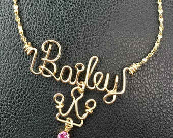 Personalized Double Name Necklacecouple S Mother S