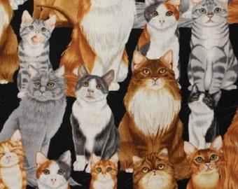 Fat Quarter The Cats Meow Black Cat Quilting Fabric Benartex 6399 12