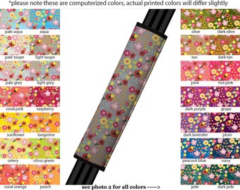 Seat Belt Cover // AUTO PAD // Car Accessories // seat belt pad - Floral Burst - Pick Your Own Color - Custom seatbelt flower pattern