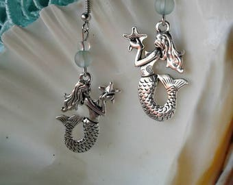Silver Mermaid Earrings