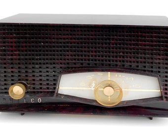 Vintage 1960s Philco Radio Rare Mahogany Color