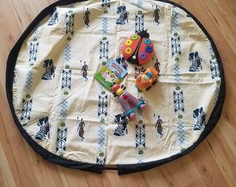 Baby playmat, baby convertible playmat