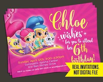 Shimmer and Shine Invitation - Shimmer and Shine Birthday Invitation