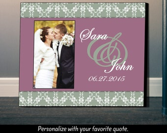 Personalized Picture Frame, Wedding Frame, Wedding Date, Couples Gift