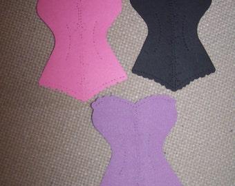 Corset Lingerie die cuts basque bridal lingerie shower bachelorette party scrapbook card making