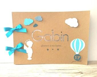 Baptism - pattern-little Golden Book Angel blue