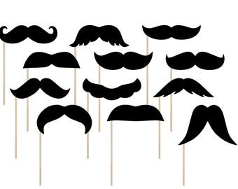 Printable Mustache Photo Booth Props . Printable Assorted Mustache Photo Booth Props . Mustaches . Staches . Instant Download