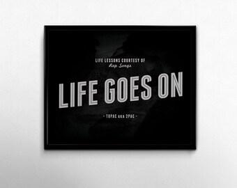 Tupac Art Poster 2pac Rap Lyrics Quotes 90s Hip Hop Music Dorm Decor Home Minimalist Black White Wall Art