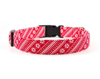 Christmas Dog Collar // S-XL // Adjustable Length - Fabric: Sweater Weather