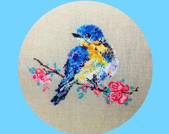 Blossom the Little Bird - CROSS STITCH PATTERN pdf