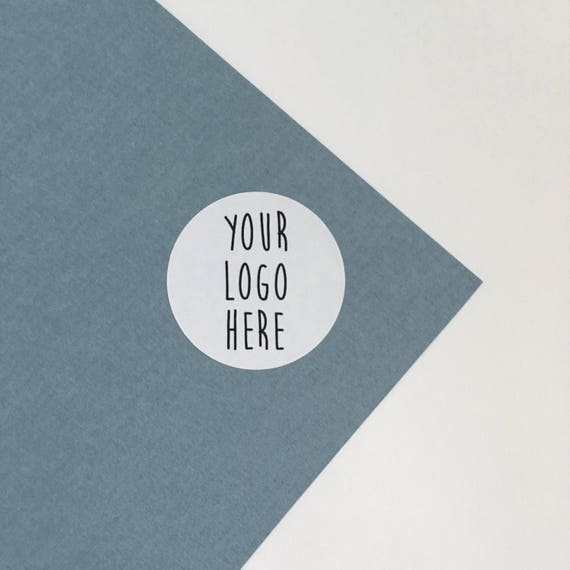 Logo stickers custom made with your design pretty mailing