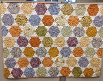 Zinnia's Garden Hexagon Quilt