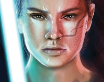 Star Wars Rey digital painting