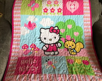Miss Kitty Baby Blanket