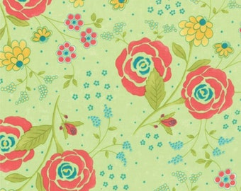 Chance of Flowers Lime Leaf 17761-13 from Moda by the yard